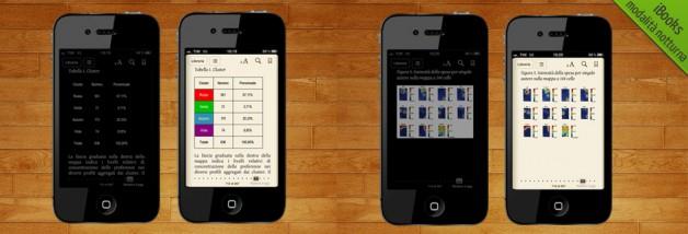 iBooks - modalità lettura notturna