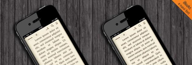 iBooks 4 nuovi font