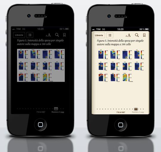iPhone iBooks modalità notturna