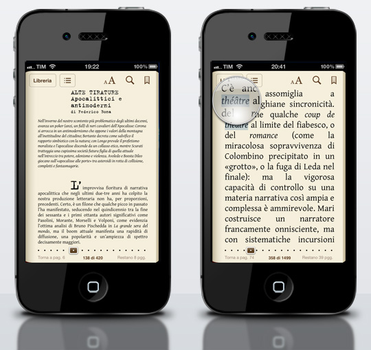 iPhone Tirature 12 struttura accenti