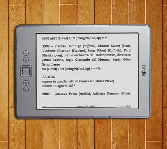 Esempio visualizzazione su Kindle