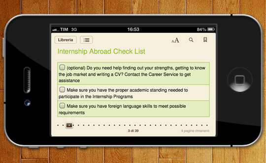 Esempio su iPhone: checklist correttamente visualizzate