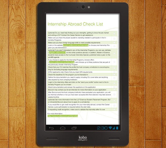 Esempio su Kobo: pdf ottimizzato tablet