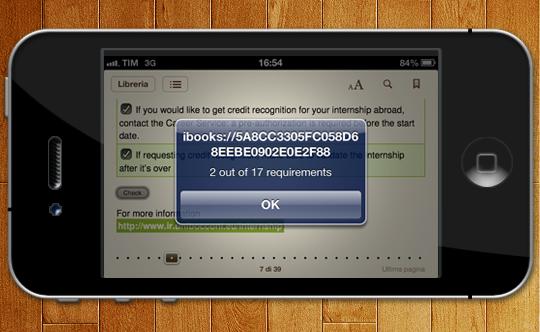 Esempio su iPhone: checklist conteggiate