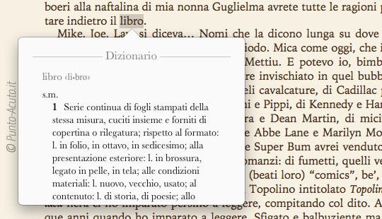 Dizionario in Italiano iBooks