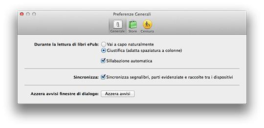 Sillabazione e a capo su iBooks 1.0 per Mac